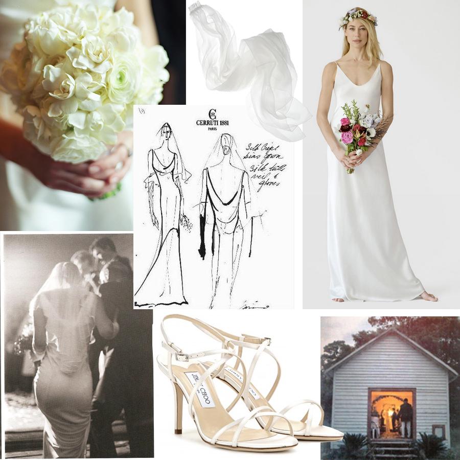 Bridal Style Carolyn Bessette Kennedy Tara Guerard Soiree